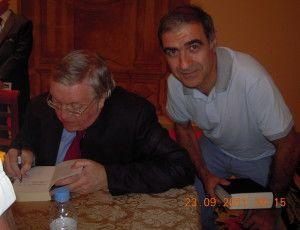 con Paul Preston en la Granja de San Ildefonso (Segovia)