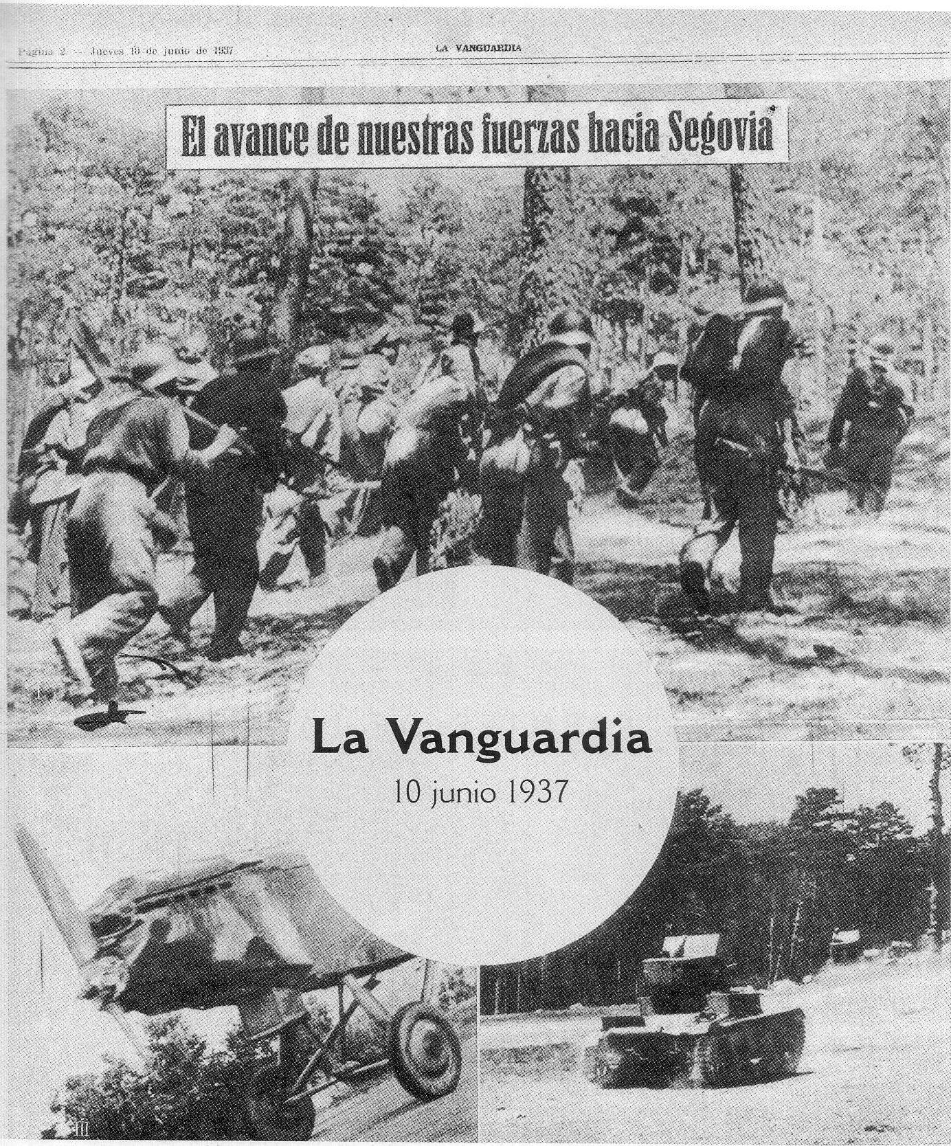 Ofensiva republicana sobre Segovia. La Vanguardia. Julio 1937 - II