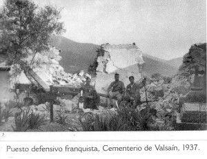 Puesto defensivo en el cementerio de Valsaín. Ofensiva de la Granja. Julio 1937