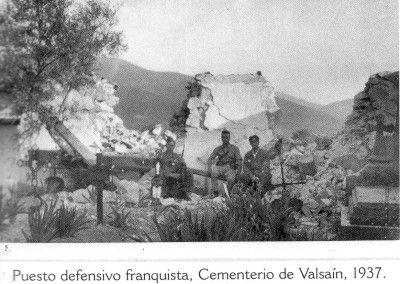 Puesto defensivo en el cementerio de Valsaín. Ofensiva de la Granja.