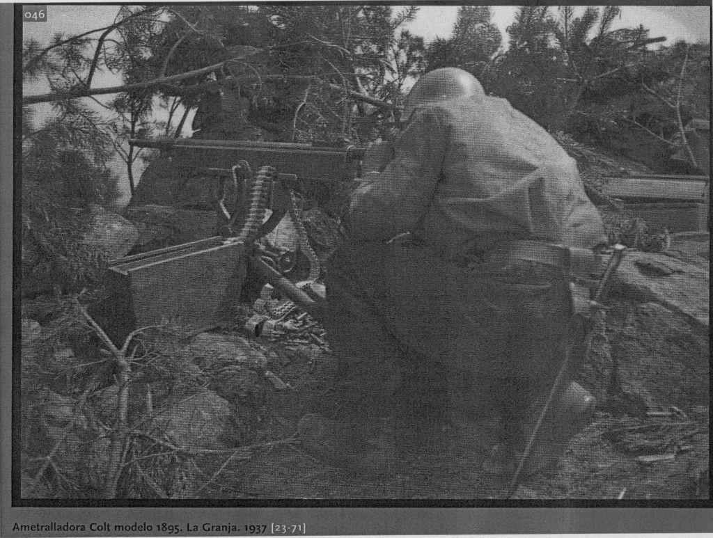 Ametralladora Colt. Modelo 1895. Ofensiva de la Granja. Julio 1937