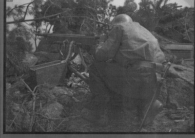 Ametralladora Colt modelo 1895. Ofensiva de la Granja. Julio 1937