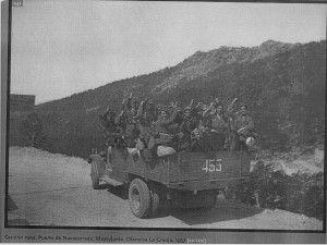 Camión ruso en el Puerto de Navacerrada. Ofensiva de la Granja. Julio 1937