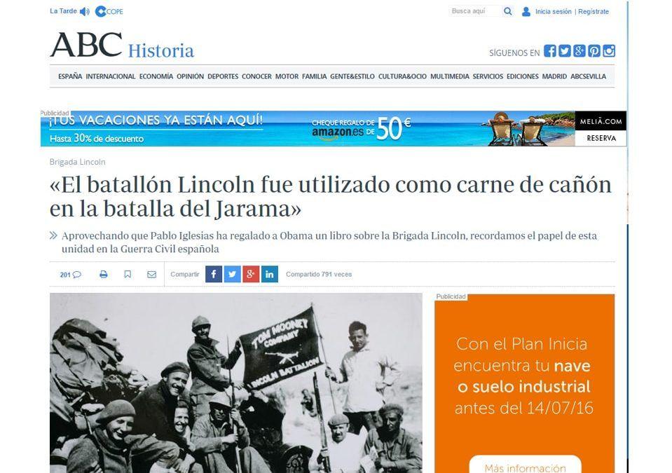 Historia de la Brigada Lincoln. Reconocido nuestro trabajo