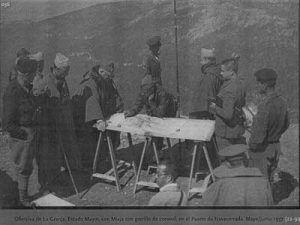 Miaja y su Estado Mayor en el Puerto de Navacerrada. Ofensiva de la Granja. Julio 1937