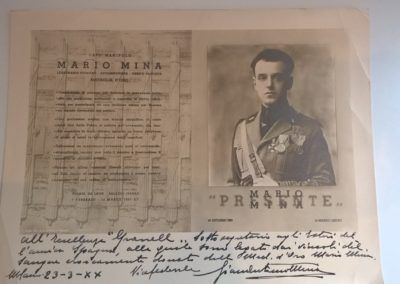 Documento original sobre Mario Mina