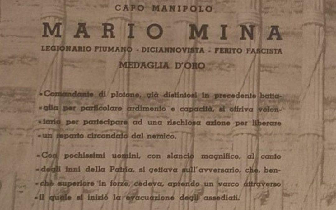 Documento original sobre Mario Mina, muerto en el Palacio de Ibarra